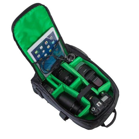 ФОТО Hot selling Multi-functional Camera video Bag  Upgrade Waterproof Digital DSLR Photo Padded Backpack w/Rain Cover Laotop 15.6