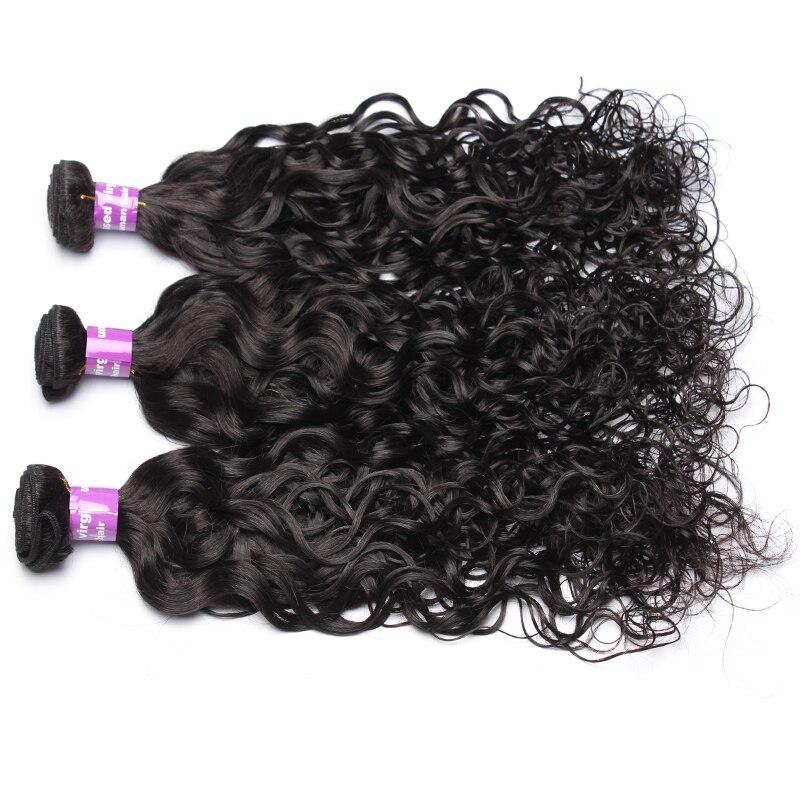 Vague d'eau cheveux humains armure paquets cheveux vierges brésiliens non transformés pour les femmes couleur naturelle Extension de cheveux CARA cheveux 3 pièces - 3