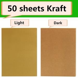Image 2 - Adesivos de papel adesivo a4 marrom 50 folhas, jato de tinta auto adesivo laser a4, etiquetas de impressão