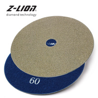 Z LION 6 Diamond Polishing Pads 150mm Electorplated Disk For Granite Concrete Polishing Sanding Tool Aggressive Grinding Wheel