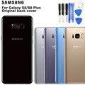Samsung Оригинальный стеклянный Телефон задняя батарея Дверь для samsung S8 S8 Plus S8 + S8plus SM-G955 S8 G9500 Корпус задняя крышка Чехлы