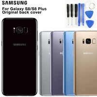 Samsung Original cristal teléfono trasero batería puerta para Samsung S8 S8 Plus S8 + S8plus SM-G955 S8 G9500 carcasa trasera casos de la cubierta