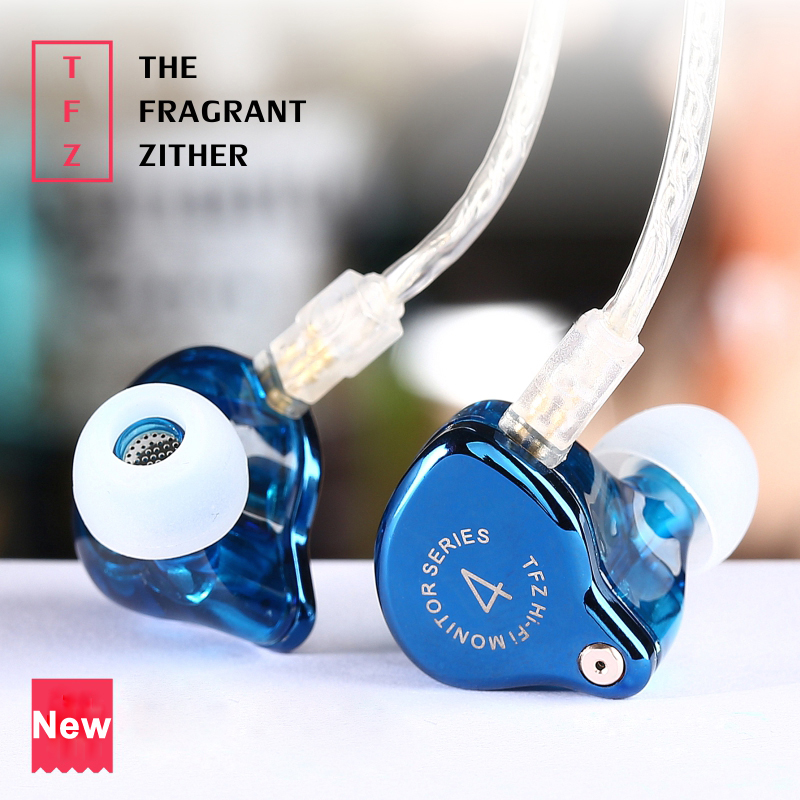 2017 The Fragrant Zither TFZ SERIES 4 In Ear Earphone W/ 2Pin MMCX Interface HIFI Monitor In Ear Sports Earphone DJ Bass Earbuds original senfer dt2 ie800 dynamic with 2ba hybrid drive in ear earphone ceramic hifi earphone earbuds with mmcx interface