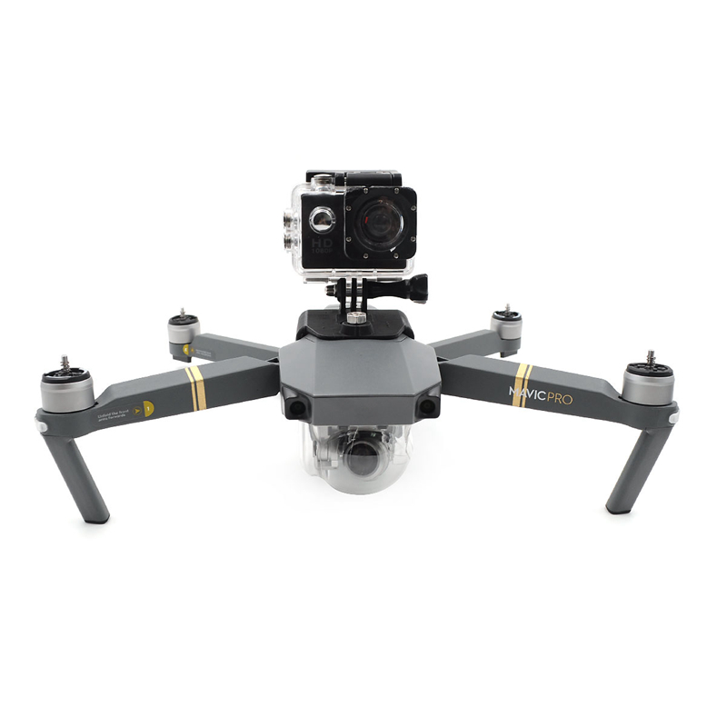 DJI Mavic Pro Accessories Camera Gimbal Bracket Kit 3D Printed Black 360 Degree/ Gopro Cameras Mount Holder Fixed Stand Support