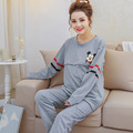 Maternity 100 Cotton Pajamas For Pregnant Women Breastfeeding Pregnancy Clothes Womens Long Sleeve Cartoon Pijimas Sets Spring