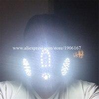 Новый Дизайн красный 4 Лазеры светодиодные Белый Цвет световой мигающий Хэллоуин маска Головные уборы для DJ Club партии Рождество украшения
