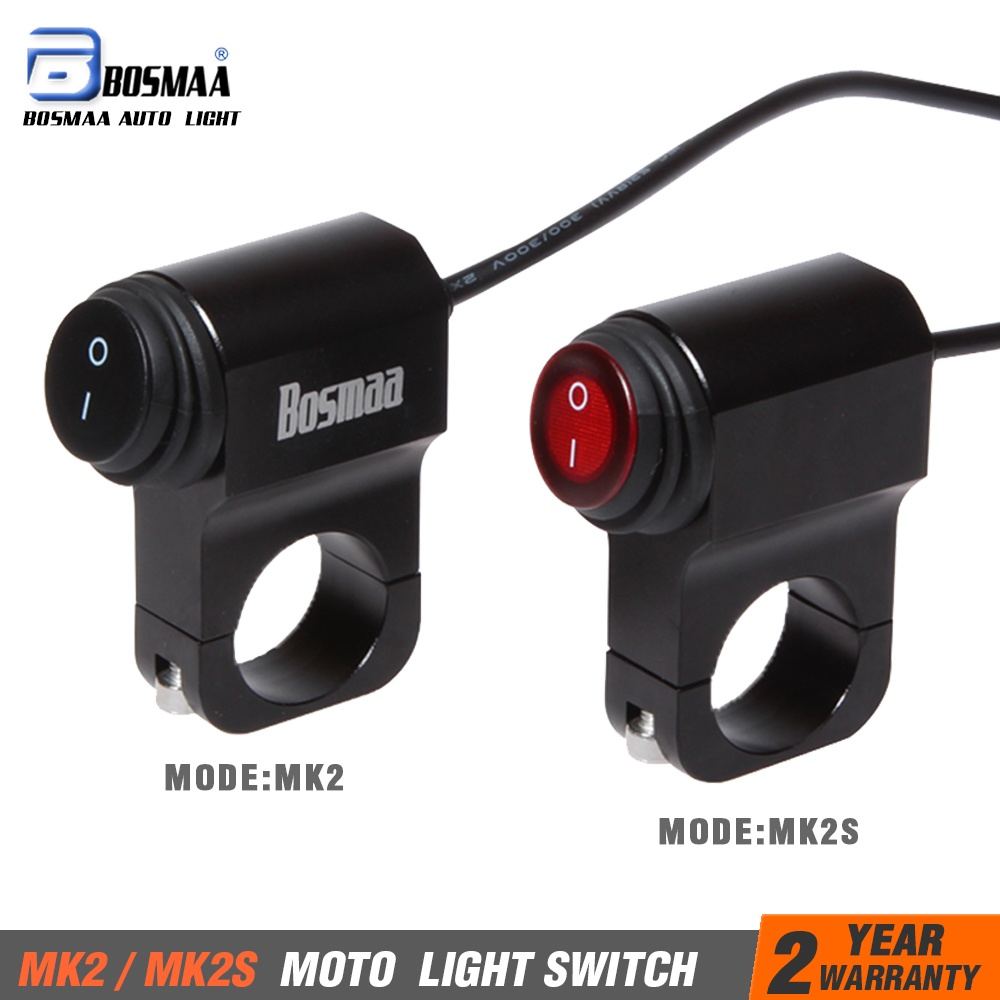 1 Pcs BOSMAA Motocicleta ON/OFF Interruptor Do Farol 7/8