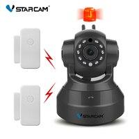 משלוח חינם VStarcam C37-AR מצלמת אבטחת ip מעורר HD אלחוטי WiFi שתי דרך הקלטת אודיו אינפרא אדום להוסיף דלת
