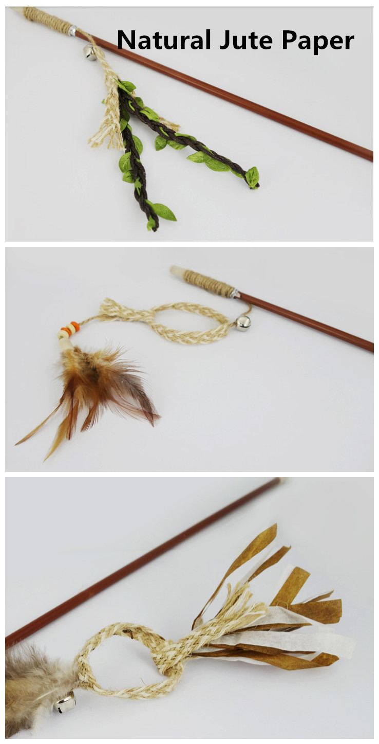 Free shipping pet cat toys cat teaser toy cat fishing pole