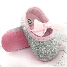 2017 newborn First Walker Toddler Baby Girls Cotton Sequin Infant Soft Sole Shoes Soft bottom Bebe Girls Shoes