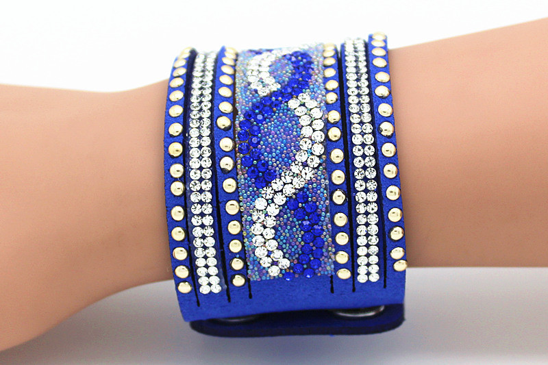 Brățară etnică largă Femme Resin Crystal Energy Cuff Bracelete Bangles Pentru femei Bărbați Bijuterii Pulseiras Femininas