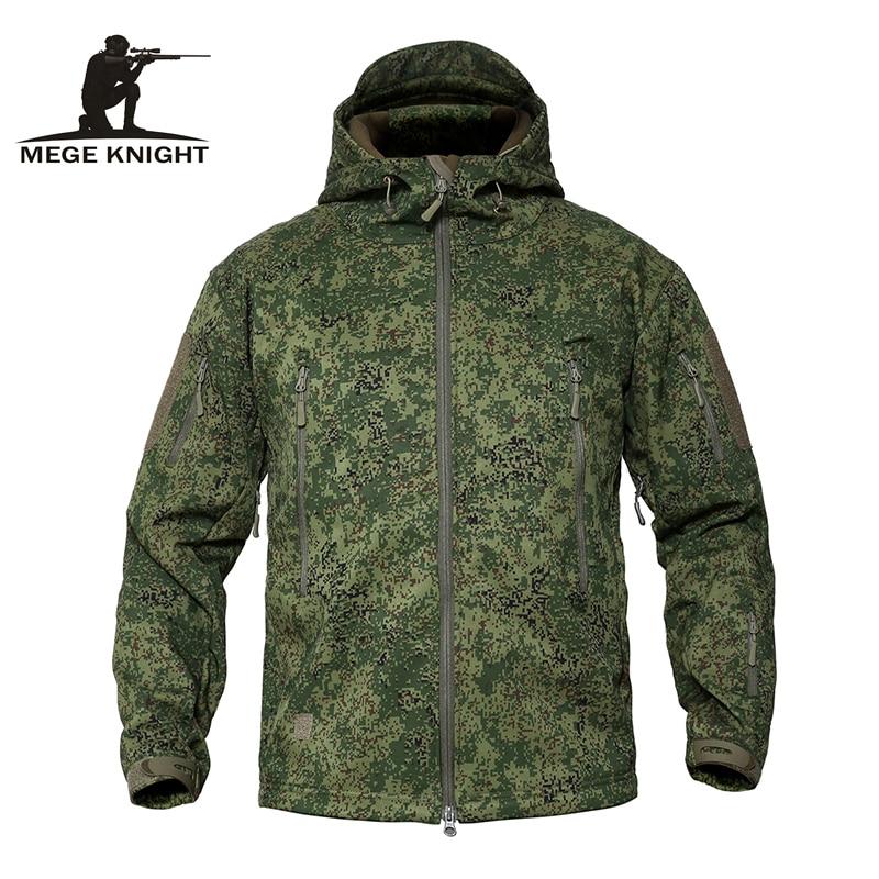 MEGE Men s Military Camouflage Fleece Tactical Jacket Men Waterproof Softshell Windbreaker Winter Army Hooded Coat Innrech Market.com