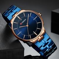 CURREN Reloj Hombre Новинка 2019 года часы для мужчин часы нержавеющая сталь Мужчин's наручные часы водонепроницаемые кварцевые Мужской Montre Homme