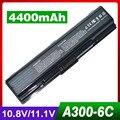 4400 mah bateria do portátil para toshiba satellite a350d a355 a355d a500 A505 A505D L200 L300 L300D L305 L305D L350 L450 L450D L455
