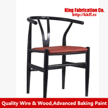 Wrought iron dining chair creative leisure living room leather padded armchair