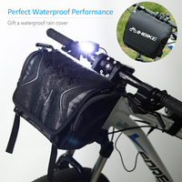 自転車のフロントバッグ防水カバー安全サイクリングバッグ大容量自転車バスケットポーチ男性スリングバッグ乗馬ハイキング