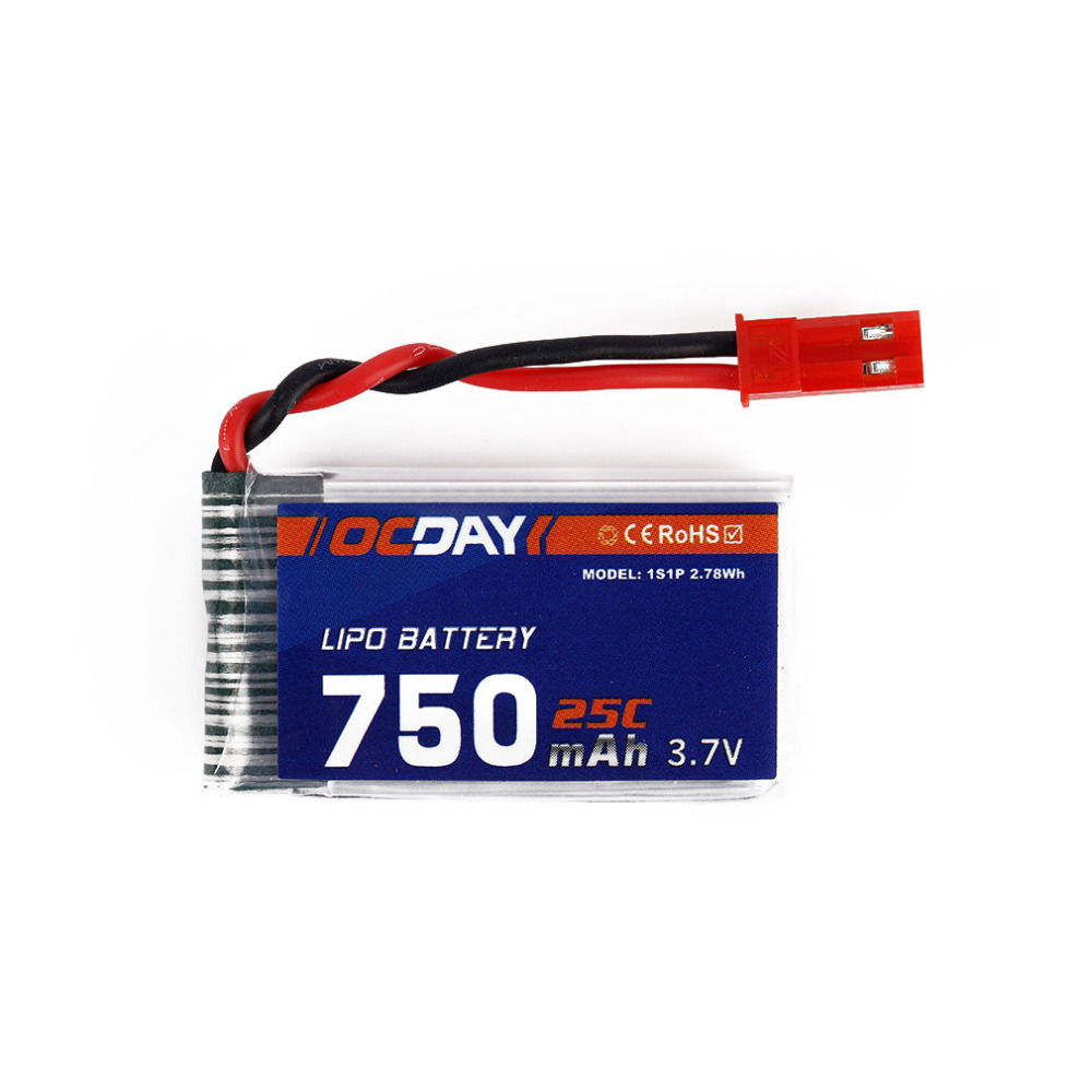 Wholesale OCDAY 4pcs 3.7V 750MAH 25C 1S1P 2.78WH Battery & X4 Charger for MJX X400 X500 X800 X300C