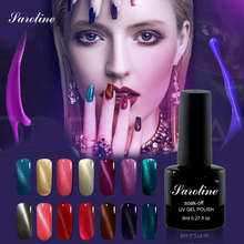 Saroline Newest Popular Cat Eye Non Wipe Top Coat Gel Polish lukcy Colors vernis Bling Gel nail polish 3D cat's eye Soak Off