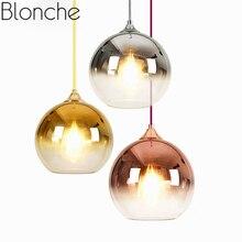Современные прозрачные стеклянные шаровые подвесные светильники, светодиодная Подвесная лампа для столовой, гостиной, внутреннего декора, освещение, подвесной светильник