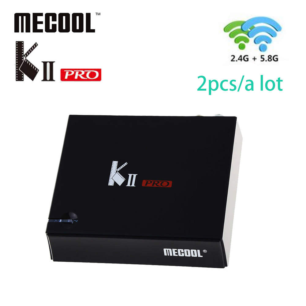 Wholesale MECOOL KII Pro 2G 16G top TV Box DVB-S2 DVB-T2 DVB-C Android 7.1 Amlogic S905D Android Box 2.4G+5.0G WiFi BT4.0 H.265 телеприставка ubox r89 tv box 89 android rk3288 2g 16g t764 gpu bluetooth 4 0 xbmc 2 4 g 5 g wifi h 265 r89 android tv box