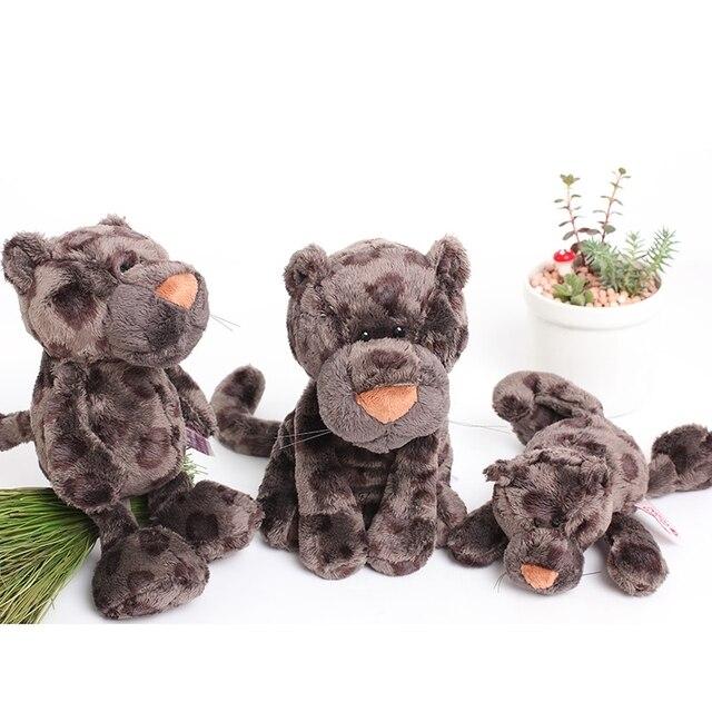 Candice guo plush toy stuffed doll NICI animal model cartoon black Snow Leopard panther kid baby birthday gift christmas present