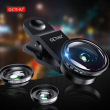 GETIHU Universal 3 in1 Wide Angle Macro Fisheye Lens Camera Mobile