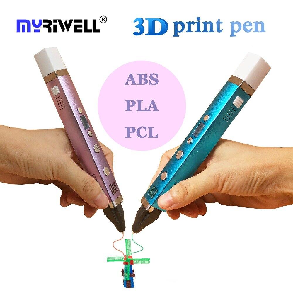 Myriwell 3D imprimante stylo 3D impression dessin stylo 5 V 2A USB charge température écran LED Doodle 3D imprimante stylo magique fabricant Art