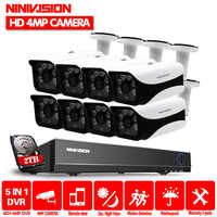 4mp HD CCTV System 8CH AHD DVR Kit 8 stücke 4.0mp 2560*1440 6 * Array LEDS Sicherheit Kamera außen Surveillance Kit Easy Remote View