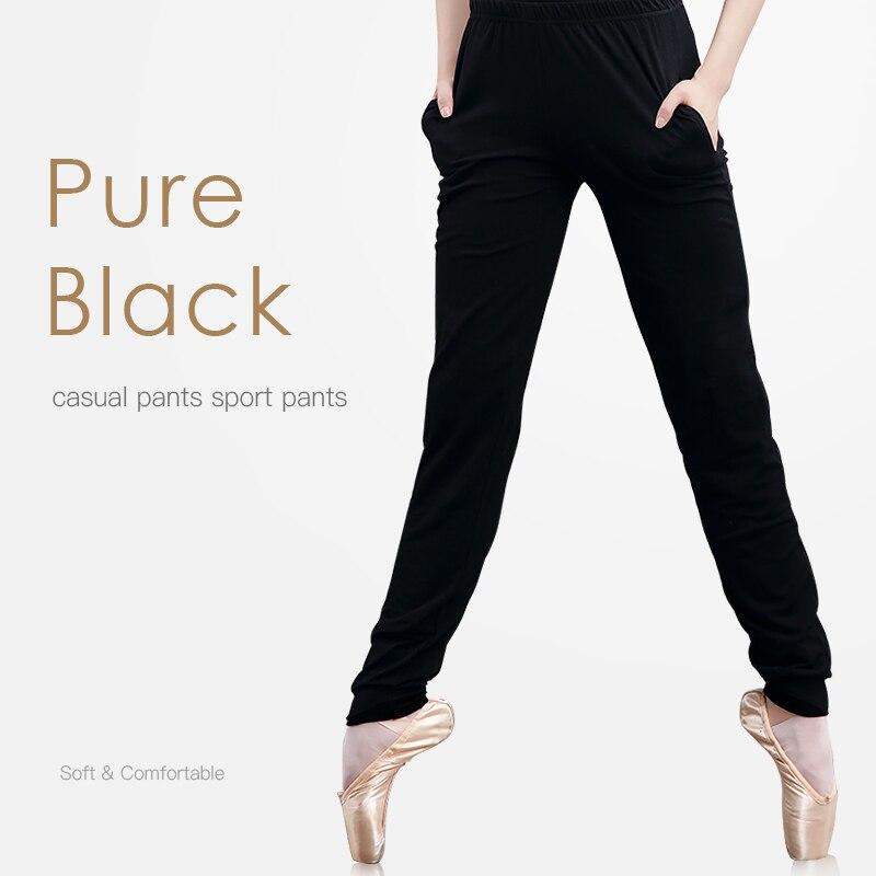 Girls Jogging Fitness Yoga Pants Women Sweatpants Dance Trousers Elastic Black