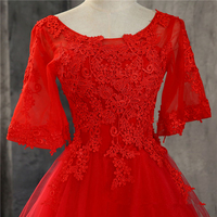 Bealegantom Red Short Prom Dresses 2018 Tulle Applique Homecoming Cocktail Party Special Occasion Gown Vestido Fiesta QA1529