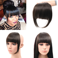 Synthetic Hair Side symmetry Fringe Bangs 2Clips Clip In Hair Extensions 35g Black Brown Fashion Hairpieces 3 colors bangs