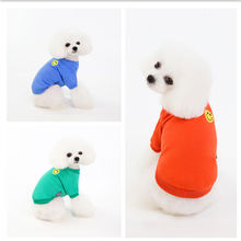 Pet clothes spring and summer dog pet smiling face
