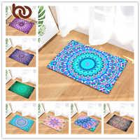 Estera de piso antideslizante para alfombra con estampado geométrico de edredones Mandala Boho impresión para puerta de cocina de baño alfombra 40x60 50 alfombras de área de x 80 cm