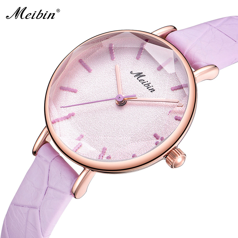 2018 Meibin Casual Ladies Watches Elegant Classic Women Quartz Watch Luxury Clock Waterproof Wristwatch Dress Femme Montre Gifts
