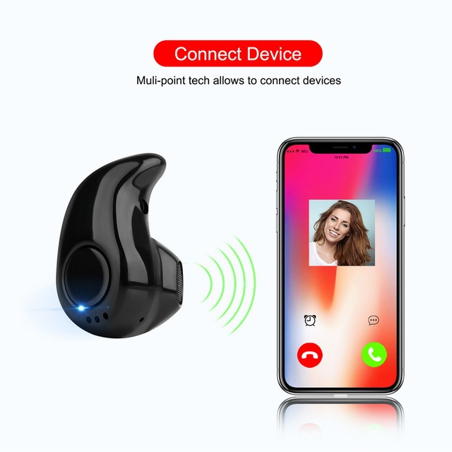 GETIHU Bluetooth Earphone Mini Wireless in ear Cordless Hands free Headphone Sport Stereo Headset Earbuds Phone For Samsung
