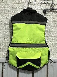 Image 3 - Motosiklet gece yansıtıcı yelek, güvenlik yeleği, erkek hi viz yansıtıcı yelek