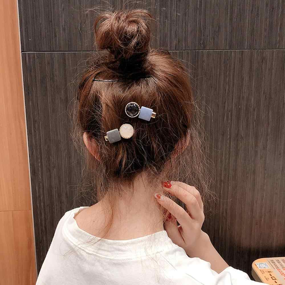 M MISM INS 1pc Hair Clips For Women Geometric Acetate Hairpins Delicate Korean Design Barrettes Hair Styling Tool Accessories