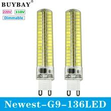 Новое поступление G9 СВЕТОДИОДНЫЕ Лампы SMD 5730 мини G9 LED лампа 220 В/110 В 136LED Люстра Заменить Галогенные свет затемнения лампы CE & Rohs
