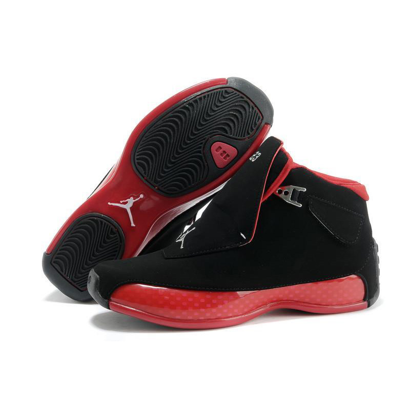 7f496e71170 Jordan Air Retro 18 Men Basketball shoes red Black white blue XVIII ...