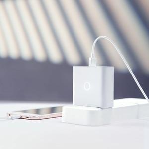 Image 3 - ZMI شاحن يو اس بي 65 واط 3 ميناء ل أندرويد iOS التبديل الذكية الناتج نوع C 45 واط USB A 20 واط مؤشر ضوء هدية كابل