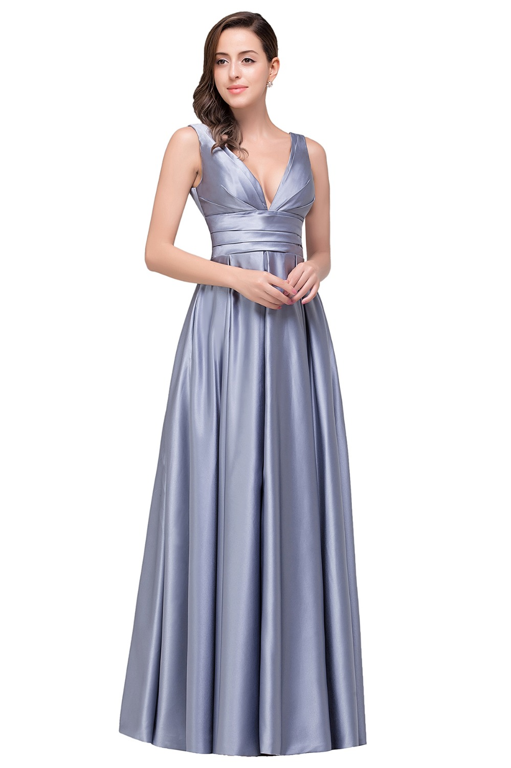 Real photo purple silver long maternity bridesmaid dresses 2017 real photo purple silver long maternity bridesmaid dresses 2017 cheap floor length v neck wedding party dresses vestido madrinha in bridesmaid dresses from ombrellifo Image collections