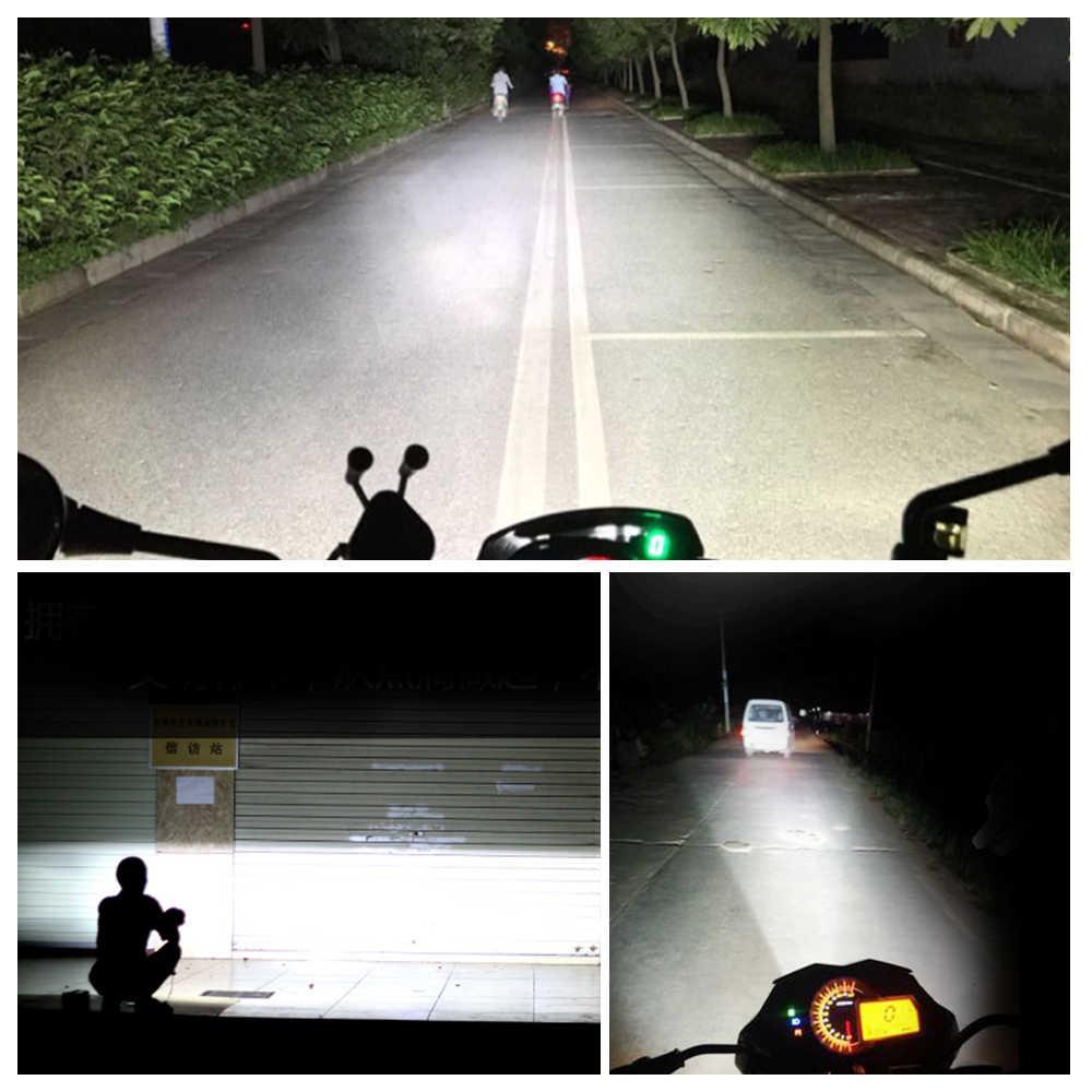 1PCS Motorcycle LED Headlight Scooter ATV Moto Headlamp Spotlight 12V LED 6500K Motorbike Spot Head Light Working Lamp DRL 24V