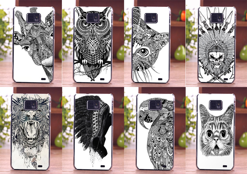 huge selection of 8b872 3d081 US $1.19 34% OFF|cute animal design cell phone skin diy pattern Phone Case  Back Cover for smartphone Samsung s2-in Half-wrapped Cases from Cellphones  ...