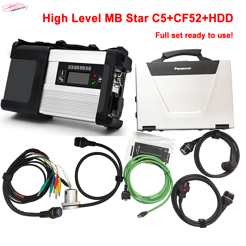 2018 Best Quality MB C5+2018.3 SSD+CF52 Laptop wireless for Car&Truck mb star c5 diagnostic-tool Multi-Language DHL Free Ship