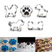 6 стилей, металлическая форма для печенья в форме лапы собаки, форма для печенья, форма для рукоделия, помадка, сахарное ремесло, печенье, 3D форма для выпечки