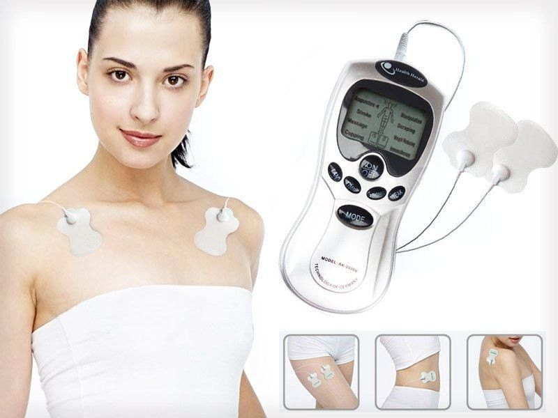 1pcs Health Tool Set For Tens Machine Digital Therapy Full Body Massager Pain Relief Acupuncture Back New 4-Way
