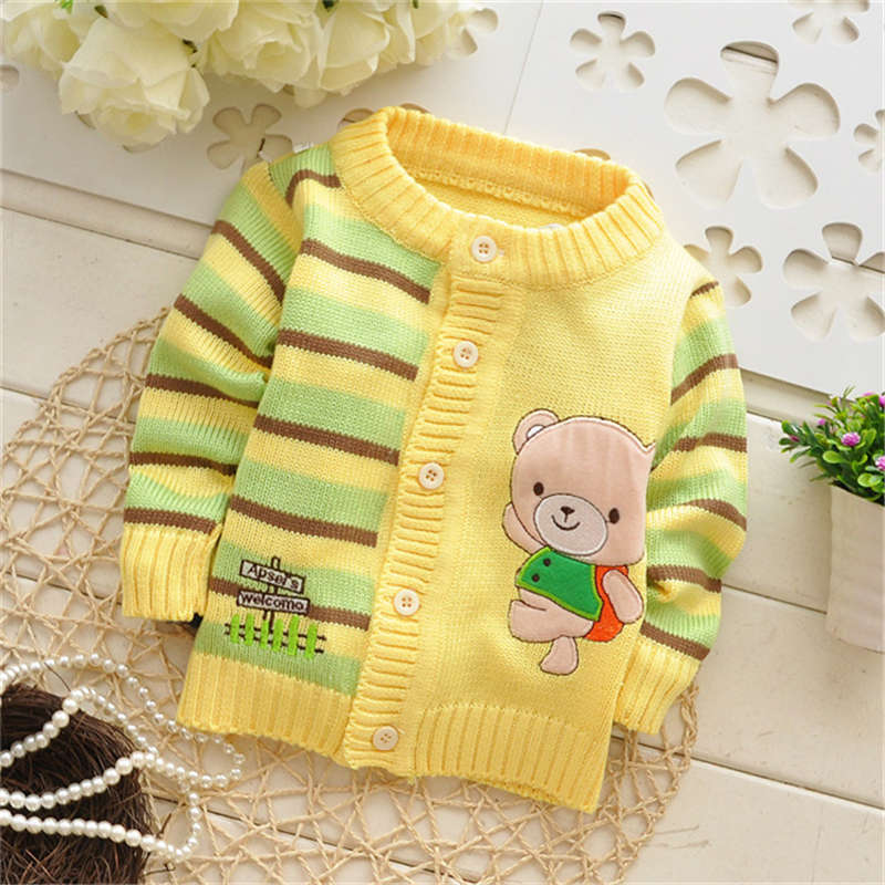 Hot Sale! Autumn/Winter sweaters Kids Cartoon cardigans knitwear baby casual sweater coat,many styles to choose,V349