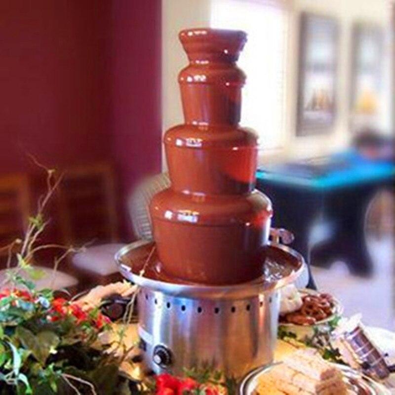 Электрика 4 уровня Нержавеющаясталь расплава Maker шоколадное фондю фонтан машина ZF
