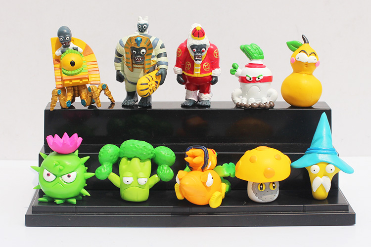 30sets/lot Plants Vs Zombies PVC Figure Toys Collection Model Dolls Gift For Kids