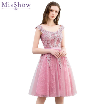 2019 Special Sale Short Prom Dress Party Cocktail Dresses Tulle Applique with Pearls robe de cocktail robes courte de cocktail